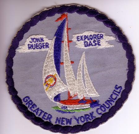 John Rueger Explorer Base Jacket Patch - Sailboat