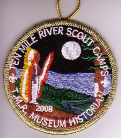 2008 Ten Mile River Museum Historian Patch