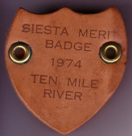 1974 Siesta Merit Badge Slide