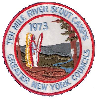 1973 Ten Mile river Scout Camp Jacket Patch