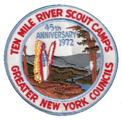 Ten Mile River 45th Anniversary Jacket Patch