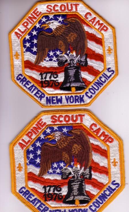 Alpince Scout Camp Bicentennial Jacket Patch Varities