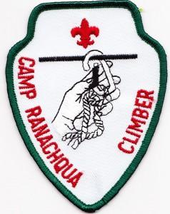 Camp Ranachqua Climber Arrowhead Patch