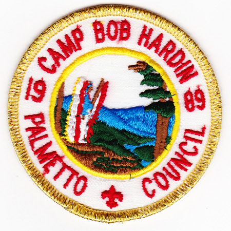 Camp Bob Hardin 1989 Gold Mylar Patch