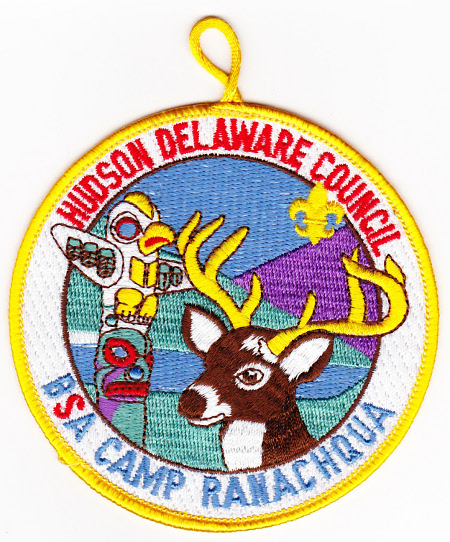 Undated Hudson Delaware Council Camp Ranachqua Pocket Patch
