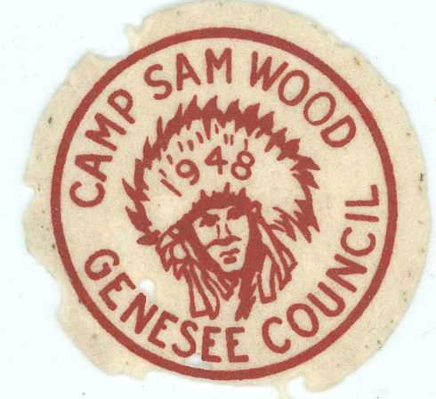 Camp Sam Wood 1948 Felt Pocket Patch