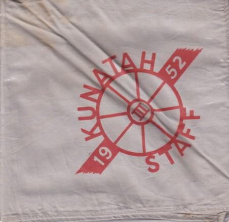 1952 Kunatah Staff neckerchief