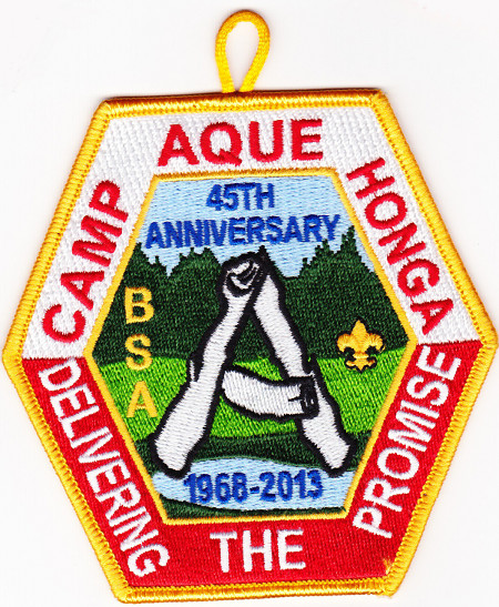 Camp Aquehonga 2013 Pocket Patch