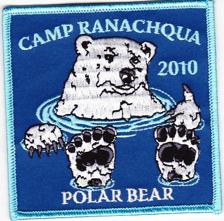 2010 Camp Ranachqua Polar Bear Patch