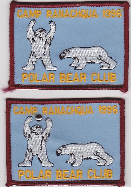 Camp Ranachqua 1996 Polar Bear Swim Patches