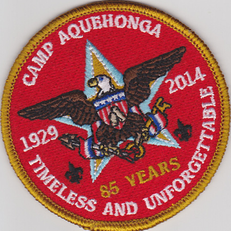 Camp Aquehonga 85th Anniversary 1929-2014 Round
