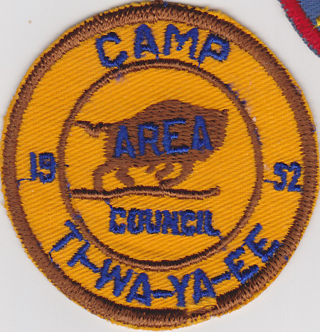 Camp Ti-Wa-Ya-Ee 1952 Pocket Patch