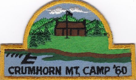 Crumhorn Mountain Scout Camp 1960 Pocket Patch