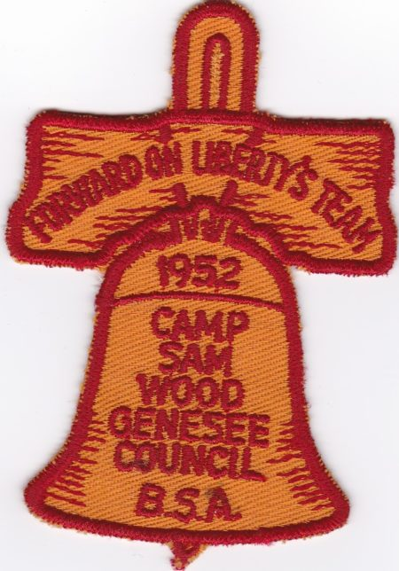 Camp Sam Wood 1952 Pocket Patch
