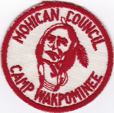 Camp Wakpominee Red Cut Pocket Patch