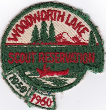 Woodworth Lake Scout Reservation 1950's cut edge with rockers