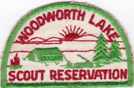 Undated Woodworth Lake Scout Reservation Half Moon Patch