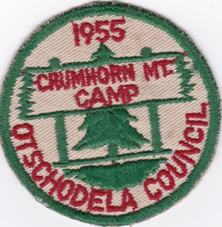 Crumhorn Mountain Scout Camp 1955 Pocket Patch