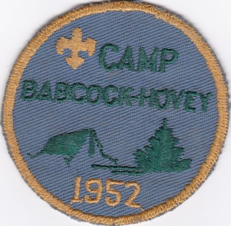 Camp Babcock Hovey 1952 Pocket Patch