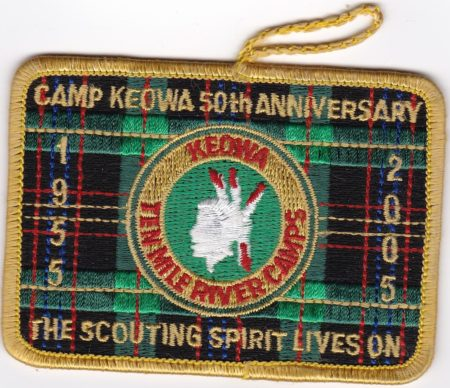 Camp Keowa 2005 50th Anniversary Pocket Dangle