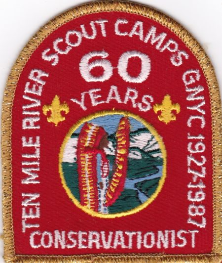 Ten Mile River Scout Camps 1987 60th Anniversary - Conservationist