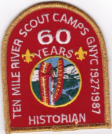 Ten Mile River Scout Camps 1987 60th Anniversary Historian