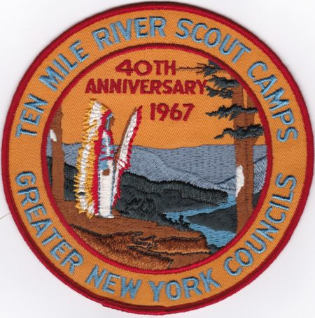 Ten Mile River Scout Camps 40th Anniversary Jacket Patch