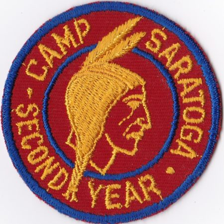 Camp Saratoga Second Year Cut Edge Patch