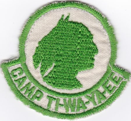 Camp Ti-Wa-Ya-Ee 1940's Green Border Pocket Patch