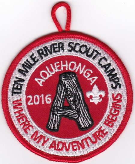 Camp Aquehonga 2016 Pocket Patch
