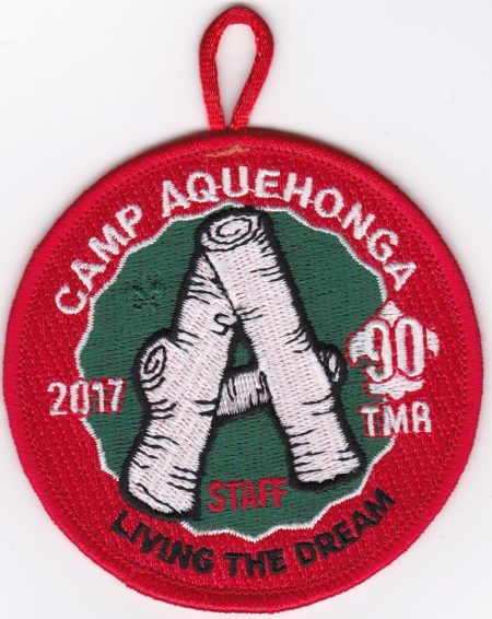 Camp Aquehonga 2017 Staff Pocket Patch