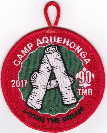 Camp Aquehonga 2017 Regular Pocket Patch
