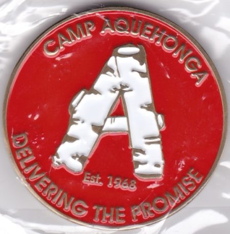 Camp Aquehonga 2018 Challenge Coin Front