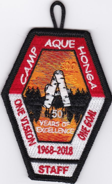 Camp Aquehonga 2018 Staff Pocket Patch