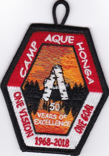 Camp Aquehonga 2018 Regular Pocket Patch