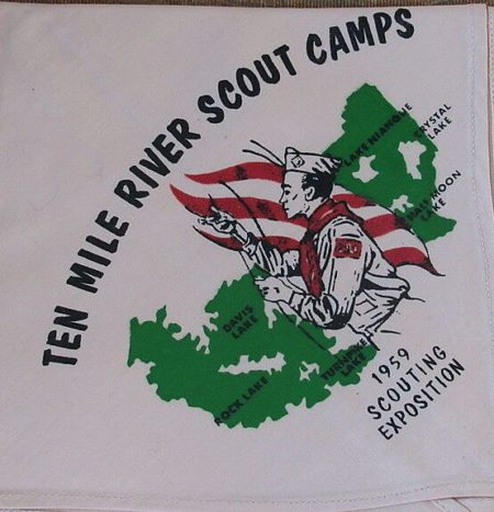 Ten Mile River Scout Camps 1959 Scouting Exposition Neckerchief