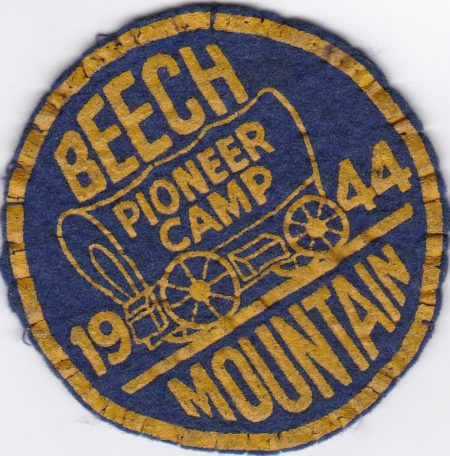 Beech Mountain 1944 Pioneer Camp Felt