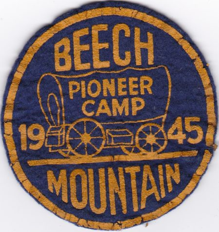 Beech Mountain 1945 Pioneer Camp Felt