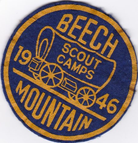 Beech Mountain 1946 Scout Camp Felt Pocket Patch