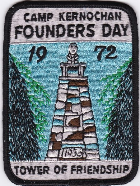 Camp Kernochan 1972 Founders Day Patch