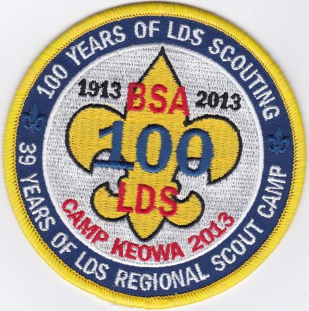 Camp Keowa 2013 LDS Scout Camp Pocket Patch