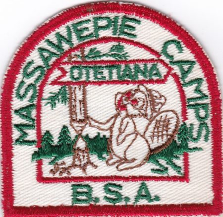 Massawepie Camps first patch 1953 Otetiana Council