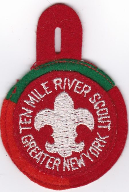 Ten Mile River Scout Felt Red Orange Green Tri-Color Pocket Patch