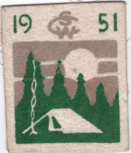 Camp Sam Wood 1951 Pocket Patch