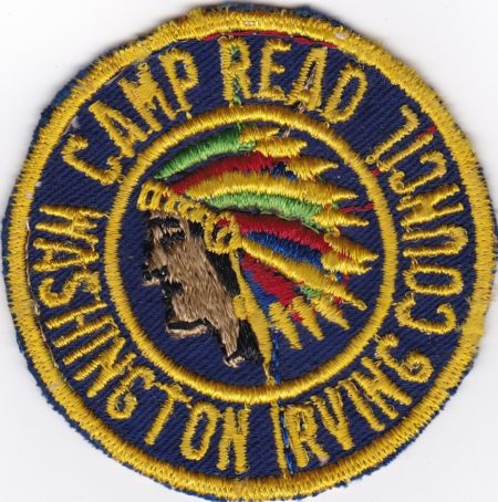 Camp Read 1950's Pocket Patch Washington Irving Council