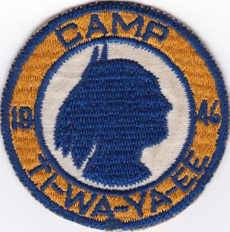 Camp Ti-Wa-Ya-Ee 1946 Pocket Patch